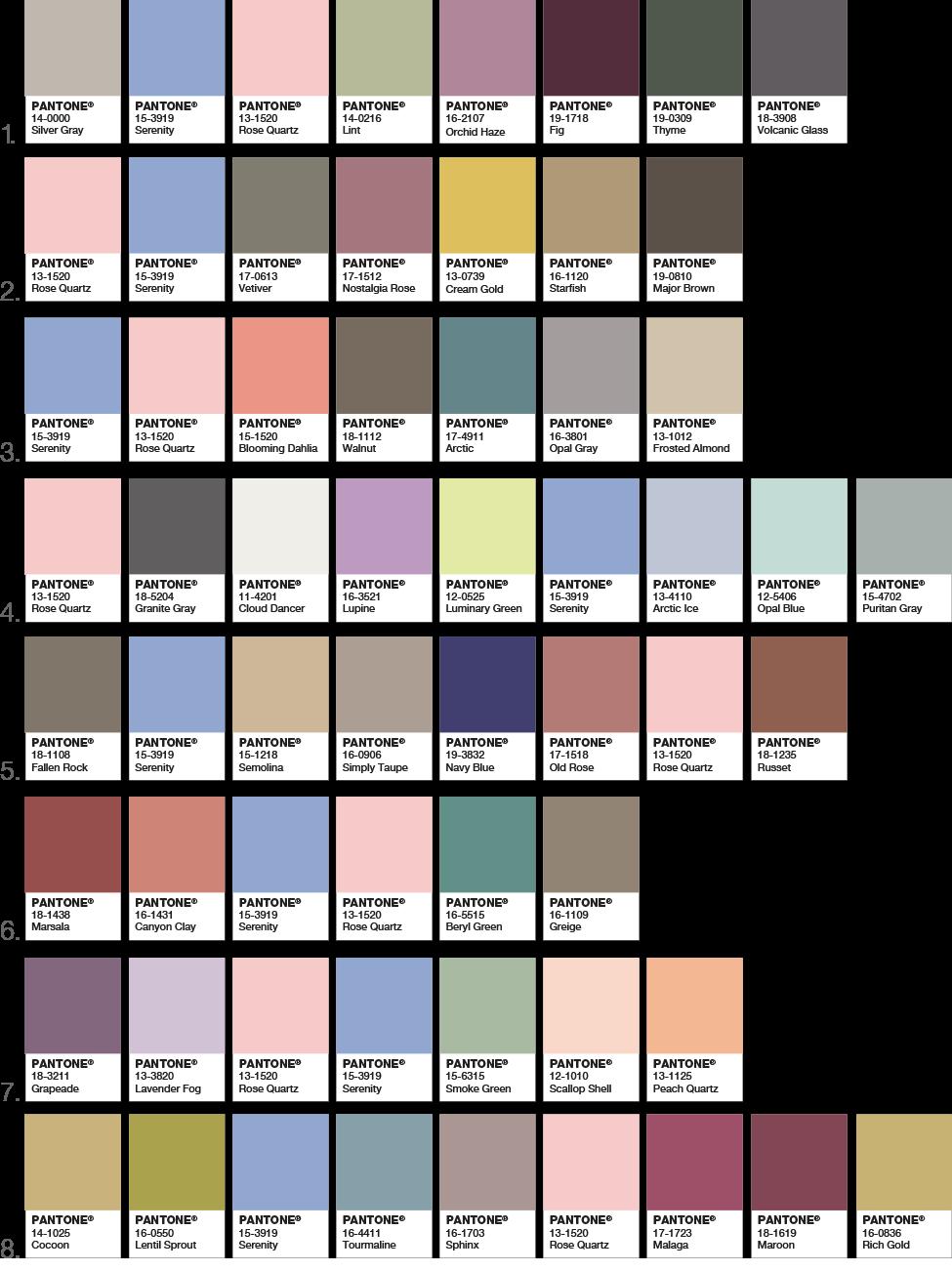 Colori Da Abbinare Al Rosa pantone 2016: i nuovi colori per il tuo brand - areadomani