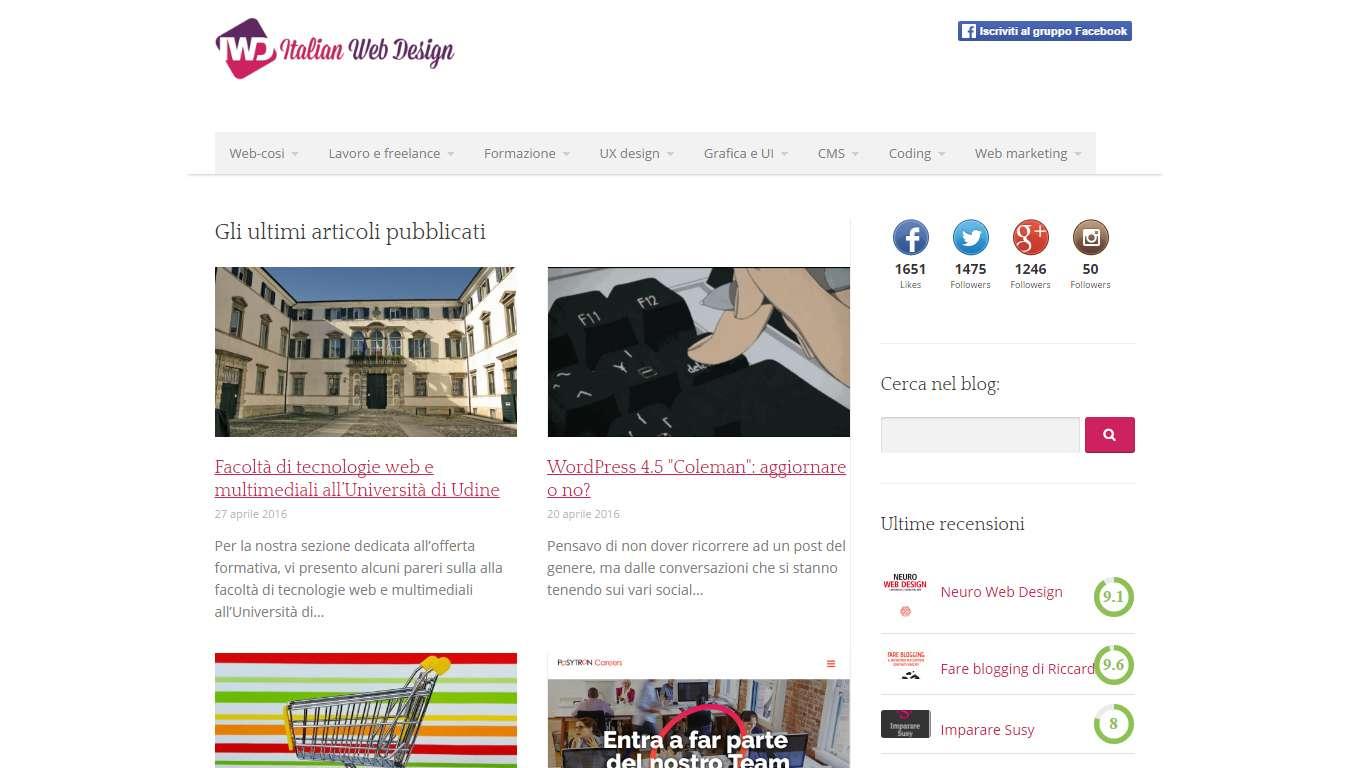 5 blog di web design da seguire assolutamente for Blog di design