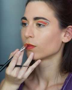 fashion make-up artist trucco geometrico