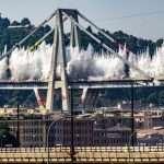 Le foto dell'implosione del Ponte Morandi scattate da Greta Agolino, allieva di fotografia di Areadomani