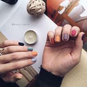 nail art unghie matte
