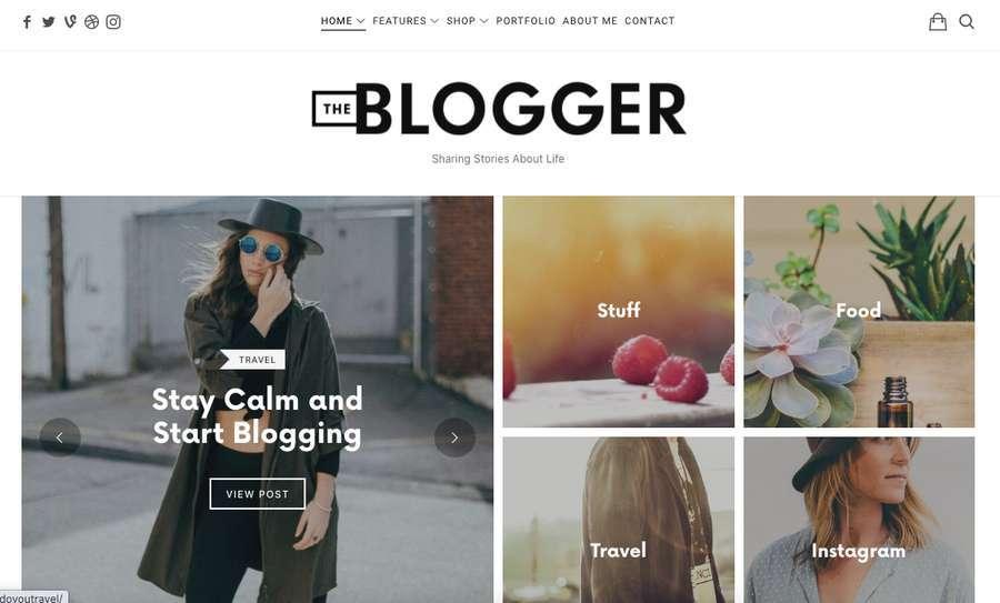 tema fashion blogger