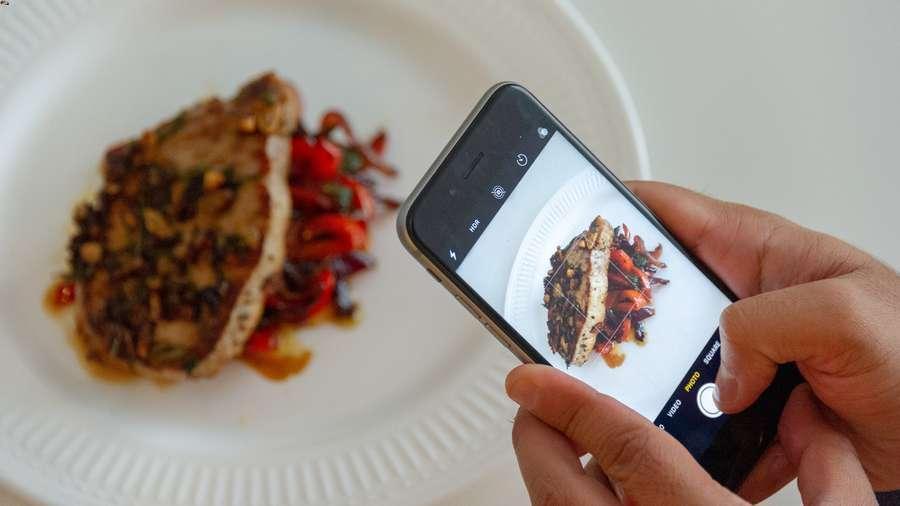 fare foto al cibo con smartphone